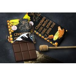CHOCOLATE CON LECHE, MIEL, POLEN Y JALEA REAL